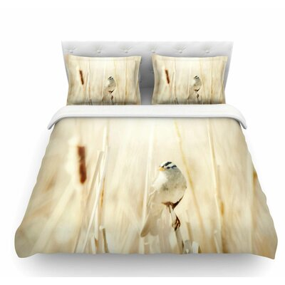 Bird in Ethereal Light by Sylvia Coomes Featherweight Duvet Cover Size: Twin