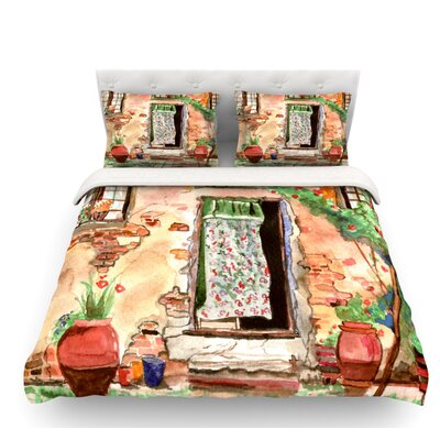 Tuscan Door by Theresa Giolzetti Featherweight Duvet Cover Size: Twin