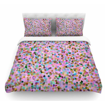 Candy Confetti by Vasare Nar Pastel Abstract Featherweight Duvet Cover Size: King