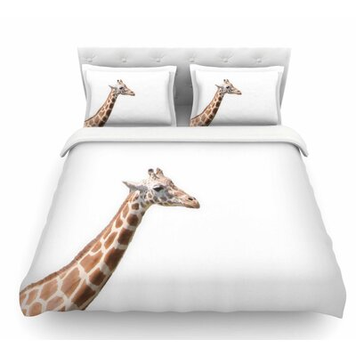 Giraffe by Sylvia Coomes Animals Featherweight Duvet Cover Size: Twin