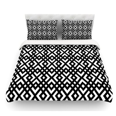 Dijagonala by Trebam Geometric Featherweight Duvet Cover Size: King