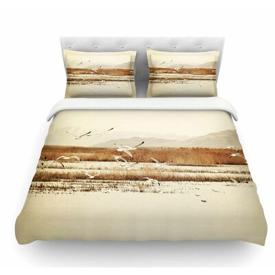 Nautical Flight by Sylvia Coomes Featherweight Duvet Cover Size: Queen