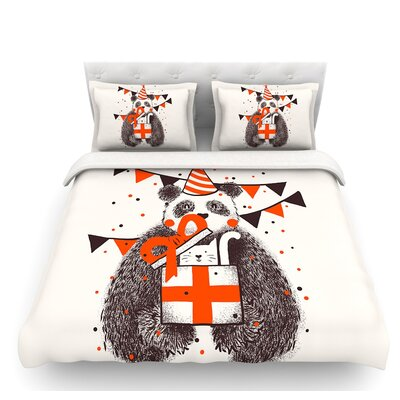 Happy Birthday by Tobe Fonseca Featherweight Duvet Cover Size: Twin