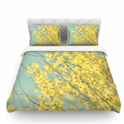 Blooms by Sylvia Coomes Featherweight Duvet Cover Size: Queen