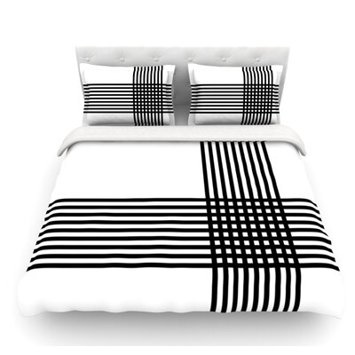 Krizanje by Trebam Minimal Lines Featherweight Duvet Cover Size: Queen