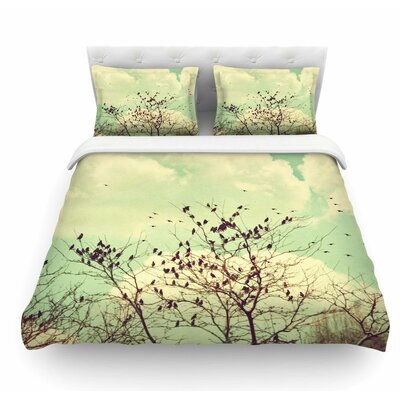 Birds of a Feather by Sylvia Coomes Featherweight Duvet Cover Size: Twin