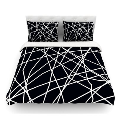 Paucina by Trebam Crazy Lines Featherweight Duvet Cover Size: Queen