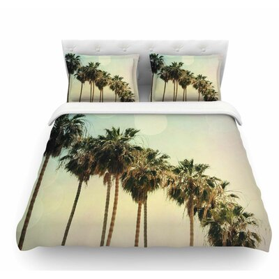 Palm Trees by Sylvia Coomes Coastal Featherweight Duvet Cover Size: Queen