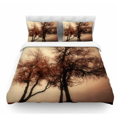 Rust Trees by Sylvia Coomes Nature Featherweight Duvet Cover Size: King