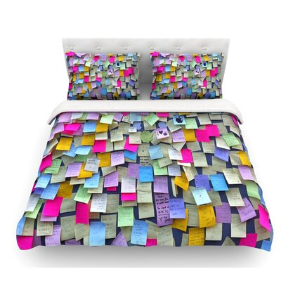 Respekt by Trebam Rainbow Paper Featherweight Duvet Cover Size: King