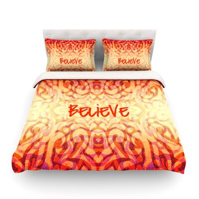 Tribal Believer by Alveron Featherweight Duvet Cover Size: Twin