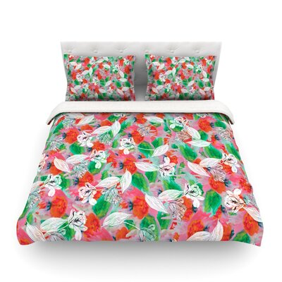 Flying Tulips by Akwaflorell Featherweight Duvet Cover Size: Twin