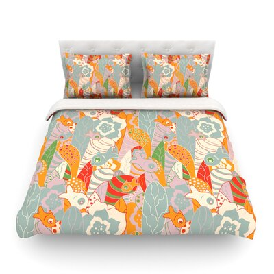 Fishes Here, Fishes There by Akwaflorell Featherweight Duvet Cover Size: Twin