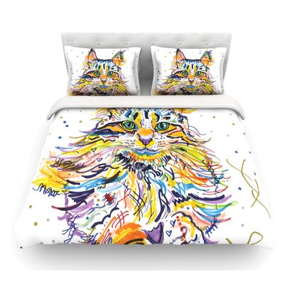 Leo by Rebecca Fischer Featherweight Duvet Cover Size: Twin