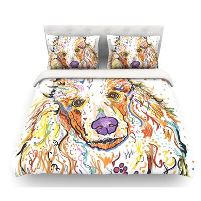 Lily by Rebecca Fischer Poodle Featherweight Duvet Cover Size: Twin