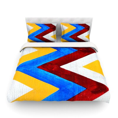Zig Zag by Brittany Guarino Featherweight Duvet Cover Size: Twin