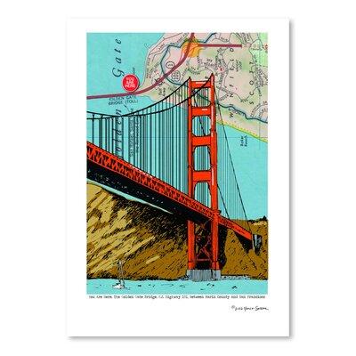 "'Golden Gate Bridge - San Francisco' Graphic Art Size: 16"" H x 12"" W ERBN1498 33654542"