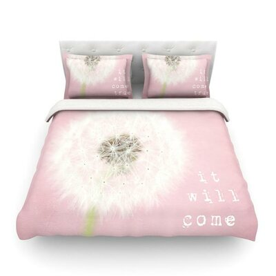 It Will Come True by Susannah Tucker Flower Featherweight Duvet Cover Size: Twin
