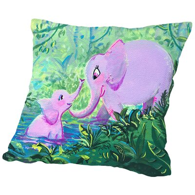 Elephantlove CaraKozik Throw Pillow Size: 18 H x 18 W x 2 D