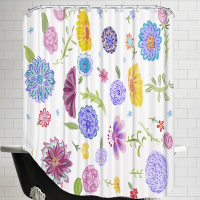Spring Dance Shower Curtain Color: White