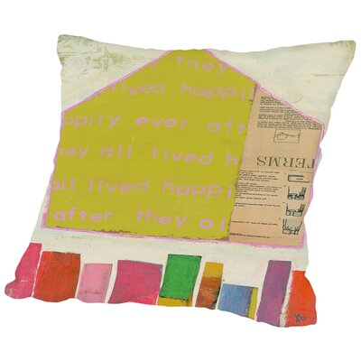 Happy Home In Throw Pillow Size: 18 H x 18 W x 2 D