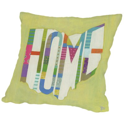 Ohio Home Throw Pillow Size: 14 H x 14 W x 2 D