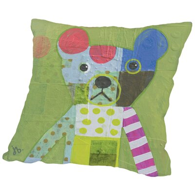 Bear Throw Pillow Size: 14 H x 14 W x 2 D