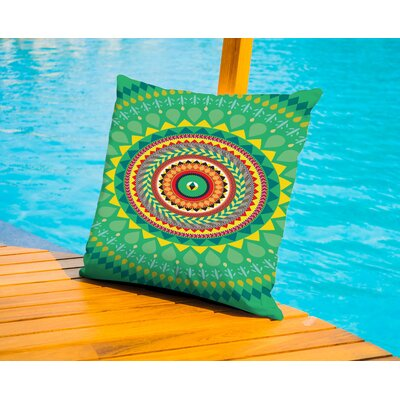 Tribal African Pattern Outdoor Throw Pillow Size: 18 H x 18 W x 2 D