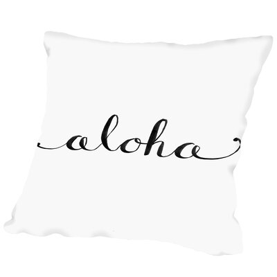 Aloha Outdoor Throw Pillow Size: 16 H x 16 W x 2 D