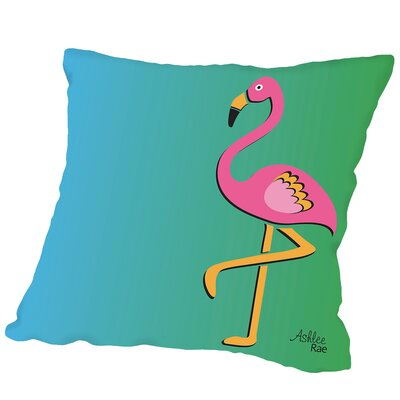 Flamingo Print Copy Outdoor Throw Pillow Size: 16 H x 16 W x 2 D