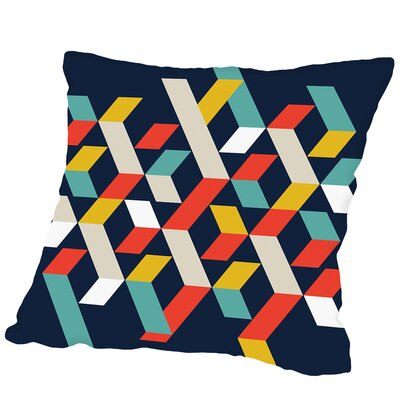 Abstract #1 Outdoor Throw Pillow Size: 16 H x 16 W x 2 D