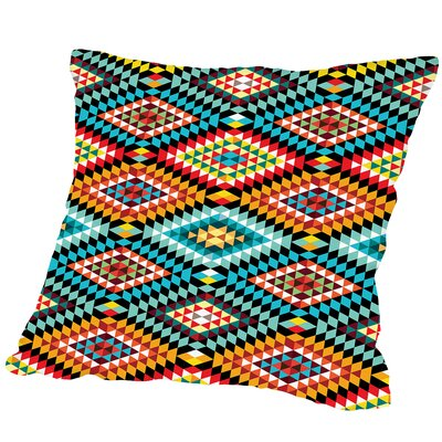 Tribal African Fabric Pattern Outdoor Throw Pillow Size: 18 H x 18 W x 2 D