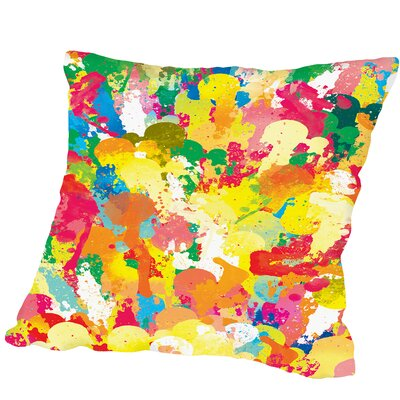 Spring Pattern Paintbrush Outdoor Throw Pillow Size: 16 H x 16 W x 2 D