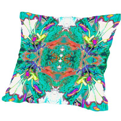 Lily Butterflies Square Outdoor Throw Pillow Size: 18 H x 18 W x 2 D
