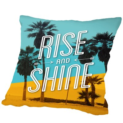 Rise And Shine Beach Outdoor Throw Pillow Size: 16 H x 16 W x 2 D
