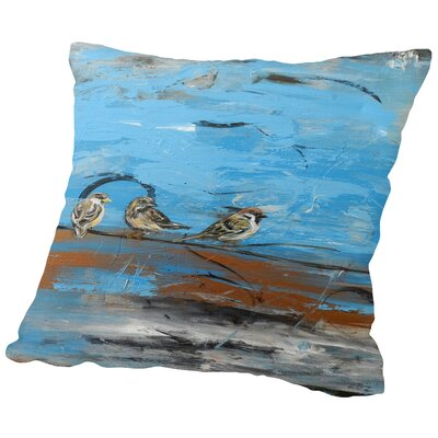 Three Birds Throw Pillow Size: 18 H x 18 W x 2 D
