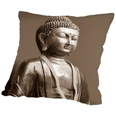 Buddha Zen Yoga Meditationn Throw Pillow Size: 20 H x 20 W x 2 D