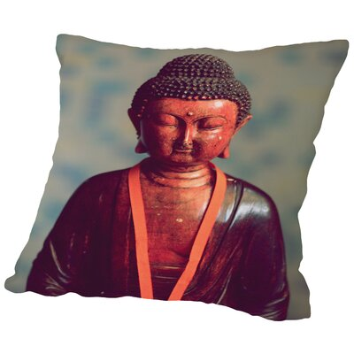 Yoga Zen Religion Throw Pillow Size: 16 H x 16 W x 2 D