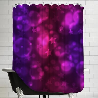 Star Design Christmas Shower Curtain