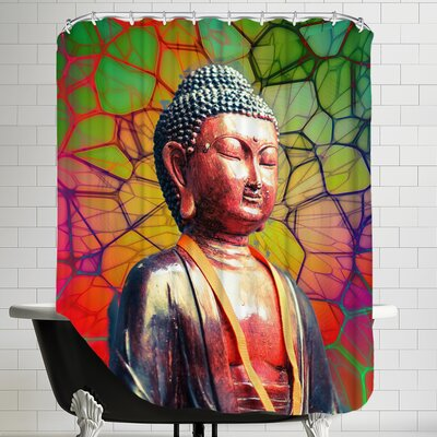 Buddha Mosaic Background Shower Curtain