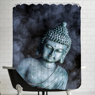 Buddha Smoke Symbol Shower Curtain