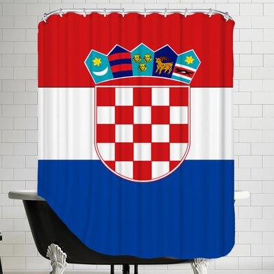 Croatia Flag Shower Curtain