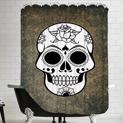 Skull Horror Design Shower Curtain