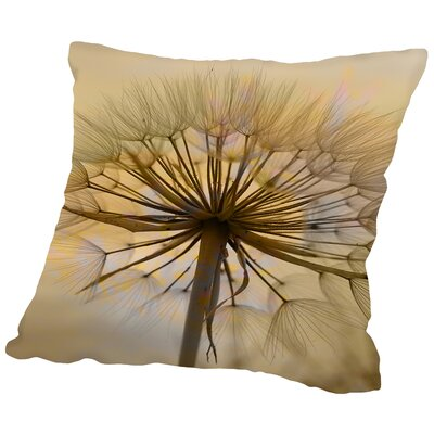 Dandelion Flower Nature Throw Pillow Size: 14 H x 14 W x 2 D