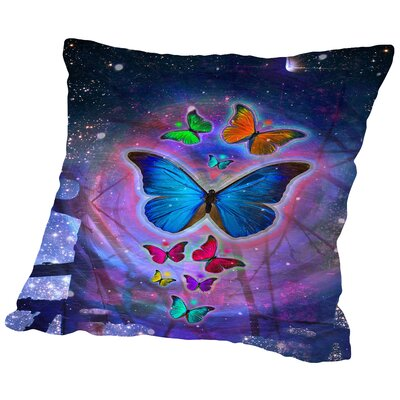 Fantasy Butterfly Insect Throw Pillow Size: 18 H x 18 W x 2 D
