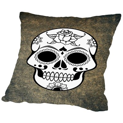 Skull Horror Design Throw Pillow Size: 16 H x 16 W x 2 D