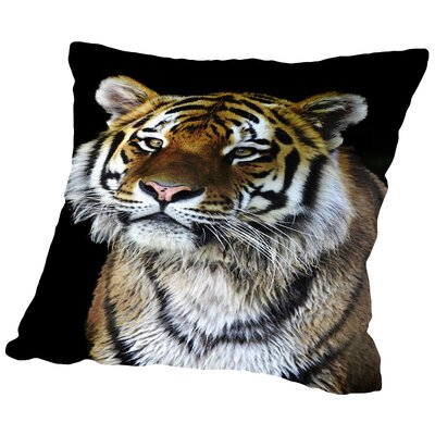 Tiger Cat Nature Throw Pillow Size: 16 H x 16 W x 2 D