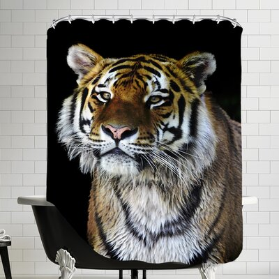 Tiger Cat Nature Shower Curtain