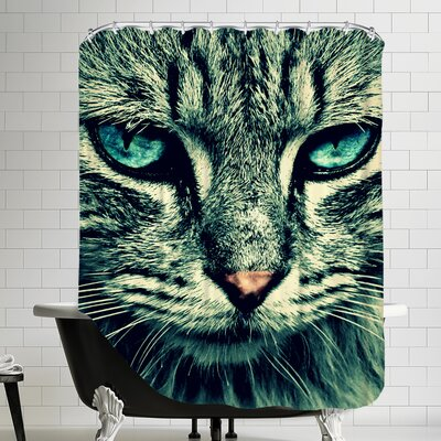 Cat with Special Eyes Shower Curtain