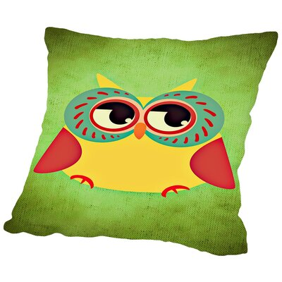Owl Modern Bird Cotton Throw Pillow Size: 14 H x 14 W x 2 D